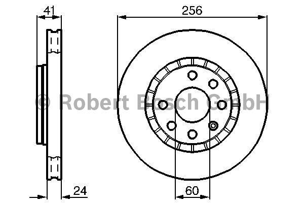 Disque de frein - BOSCH - 0 986 478 327