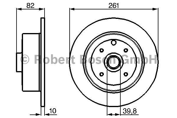 Disque de frein - BOSCH - 0 986 478 328
