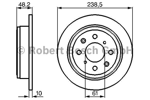 Disque de frein - BOSCH - 0 986 478 350