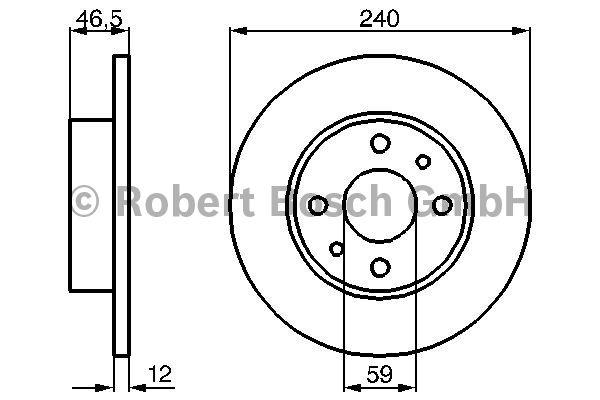 Disque de frein - BOSCH - 0 986 478 353