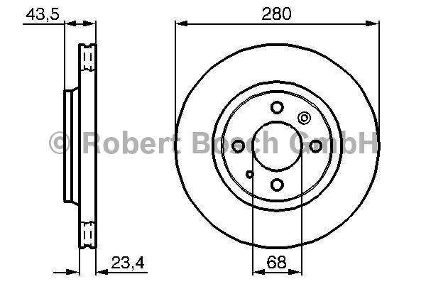Disque de frein - BOSCH - 0 986 478 375