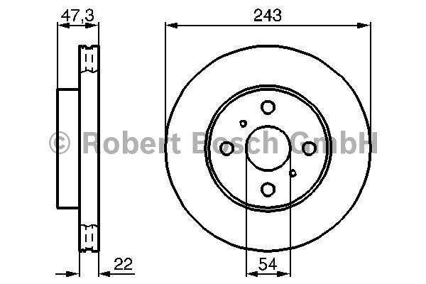 Disque de frein - BOSCH - 0 986 478 383