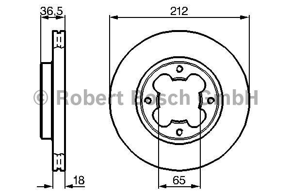 Disque de frein - BOSCH - 0 986 478 392