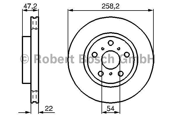Disque de frein - BOSCH - 0 986 478 396