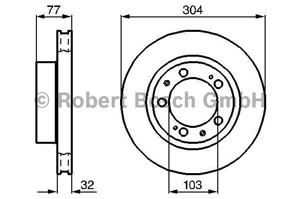 Disque de frein - BOSCH - 0 986 478 409
