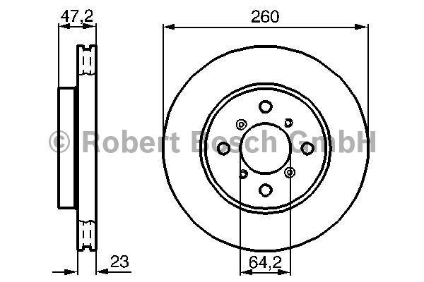 Disque de frein - BOSCH - 0 986 478 415