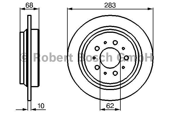 Disque de frein - BOSCH - 0 986 478 445