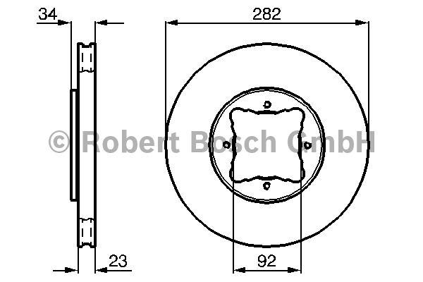 Disque de frein - BOSCH - 0 986 478 448