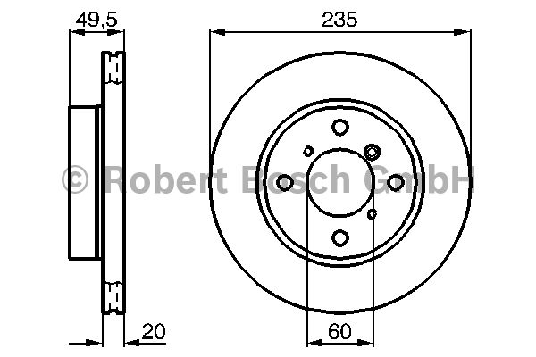 Disque de frein - BOSCH - 0 986 478 450