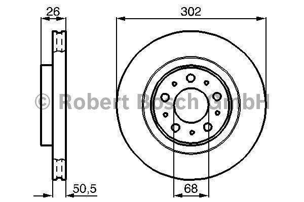 Disque de frein - BOSCH - 0 986 478 454