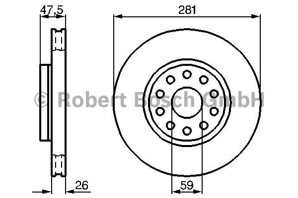 Disque de frein - BOSCH - 0 986 478 460