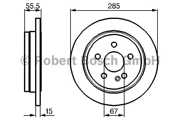 Disque de frein - BOSCH - 0 986 478 469
