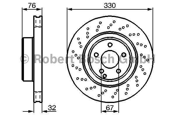 Disque de frein - BOSCH - 0 986 478 470