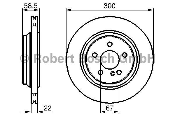 Disque de frein - BOSCH - 0 986 478 473