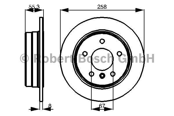Disque de frein - BOSCH - 0 986 478 475