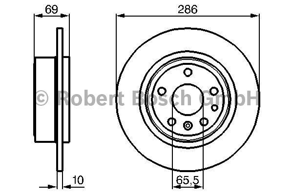 Disque de frein - BOSCH - 0 986 478 478
