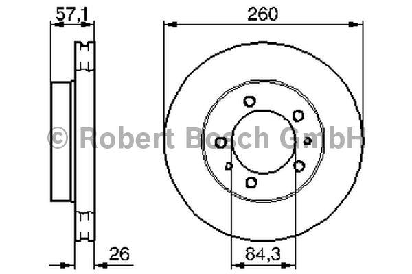 Disque de frein - BOSCH - 0 986 478 484