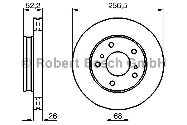 Disque de frein - BOSCH - 0 986 478 485