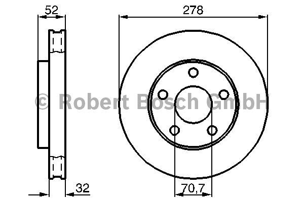 Disque de frein - BOSCH - 0 986 478 486