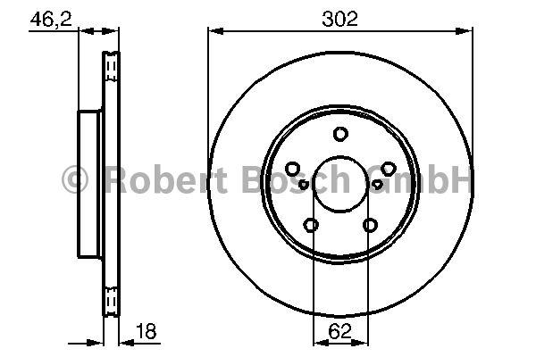 Disque de frein - BOSCH - 0 986 478 490