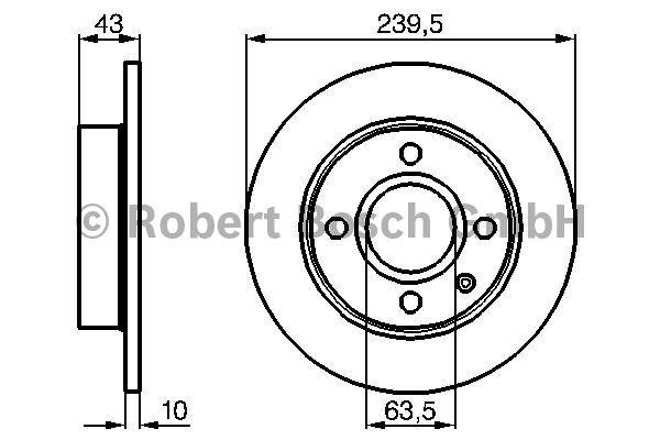 Disque de frein - BOSCH - 0 986 478 501