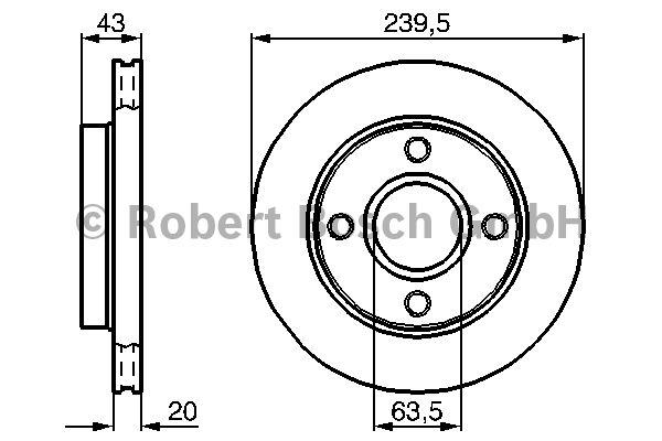 Disque de frein - BOSCH - 0 986 478 502