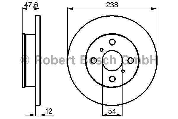 Disque de frein - BOSCH - 0 986 478 506