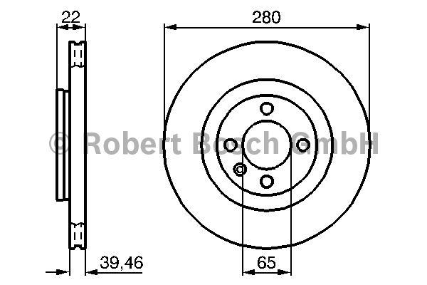 Disque de frein - BOSCH - 0 986 478 508