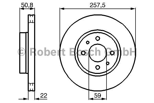 Disque de frein - BOSCH - 0 986 478 512