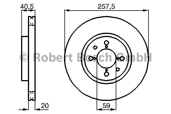 Disque de frein - BOSCH - 0 986 478 515