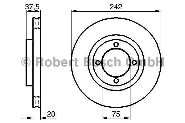 Disque de frein - BOSCH - 0 986 478 524