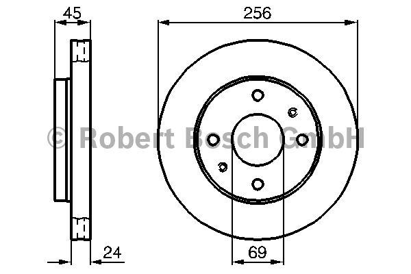 Disque de frein - BOSCH - 0 986 478 531