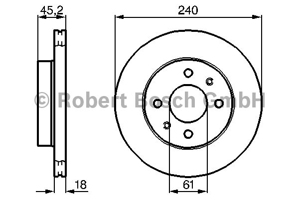 Disque de frein - BOSCH - 0 986 478 533