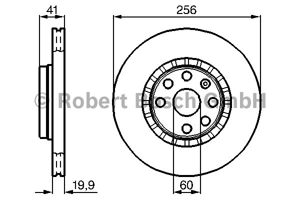 Disque de frein - BOSCH - 0 986 478 535
