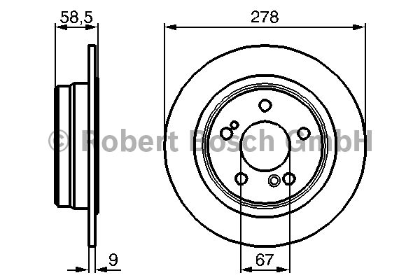 Disque de frein - BOSCH - 0 986 478 565