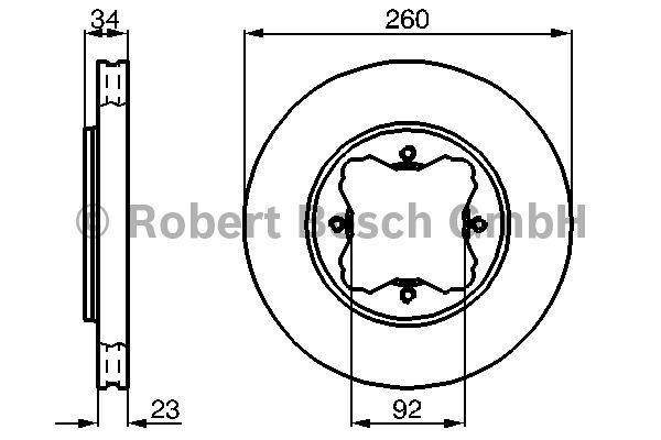 Disque de frein - BOSCH - 0 986 478 568
