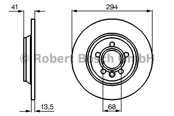 Disque de frein - BOSCH - 0 986 478 569