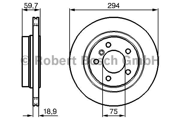 Disque de frein - BOSCH - 0 986 478 570