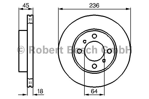 Disque de frein - BOSCH - 0 986 478 572