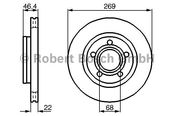 Disque de frein - BOSCH - 0 986 478 574