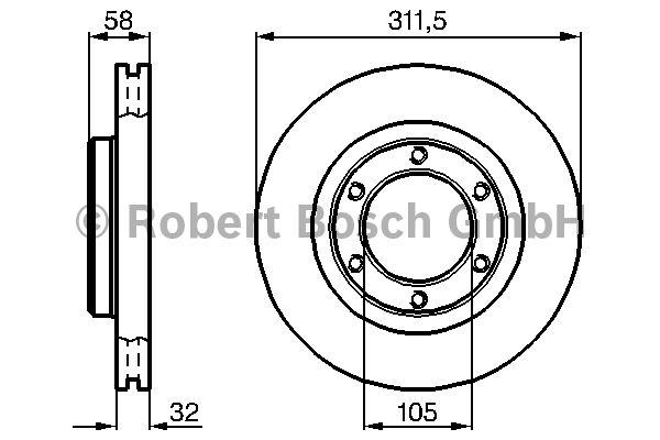 Disque de frein - BOSCH - 0 986 478 580