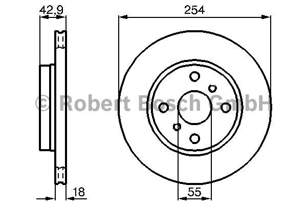 Disque de frein - BOSCH - 0 986 478 585