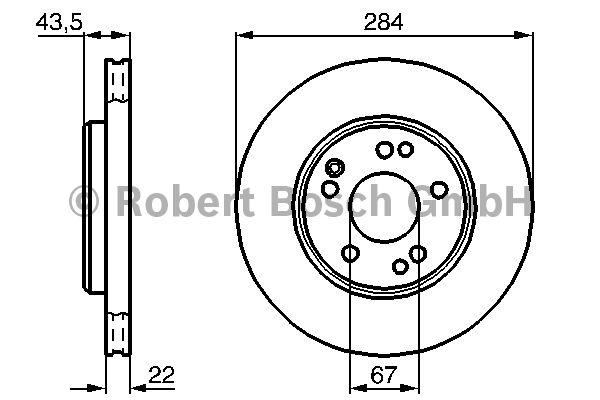 Disque de frein - BOSCH - 0 986 478 589