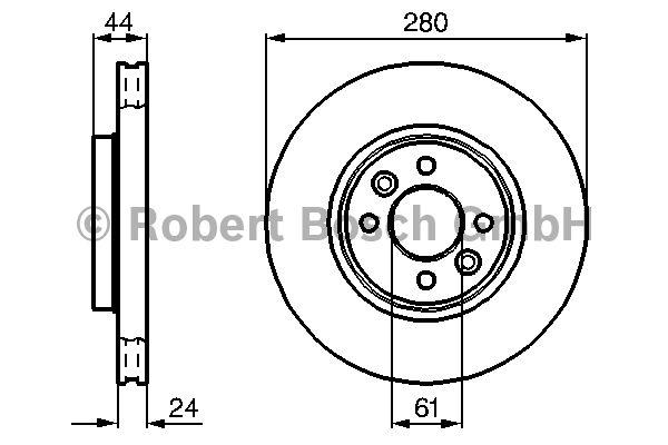 Disque de frein - BOSCH - 0 986 478 590