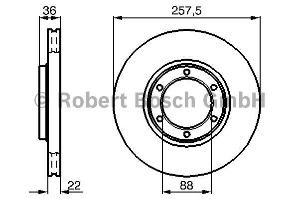 Disque de frein - BOSCH - 0 986 478 596