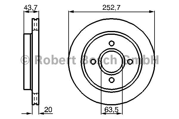 Disque de frein - BOSCH - 0 986 478 605