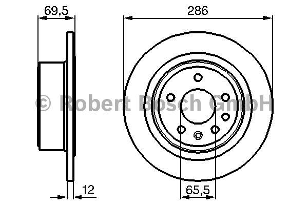 Disque de frein - BOSCH - 0 986 478 609