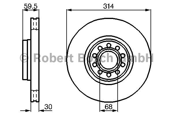 Disque de frein - BOSCH - 0 986 478 617