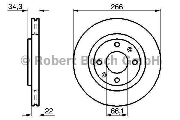 Disque de frein - BOSCH - 0 986 478 618