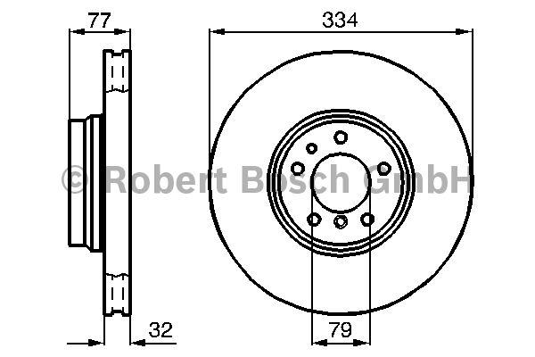Disque de frein - BOSCH - 0 986 478 623